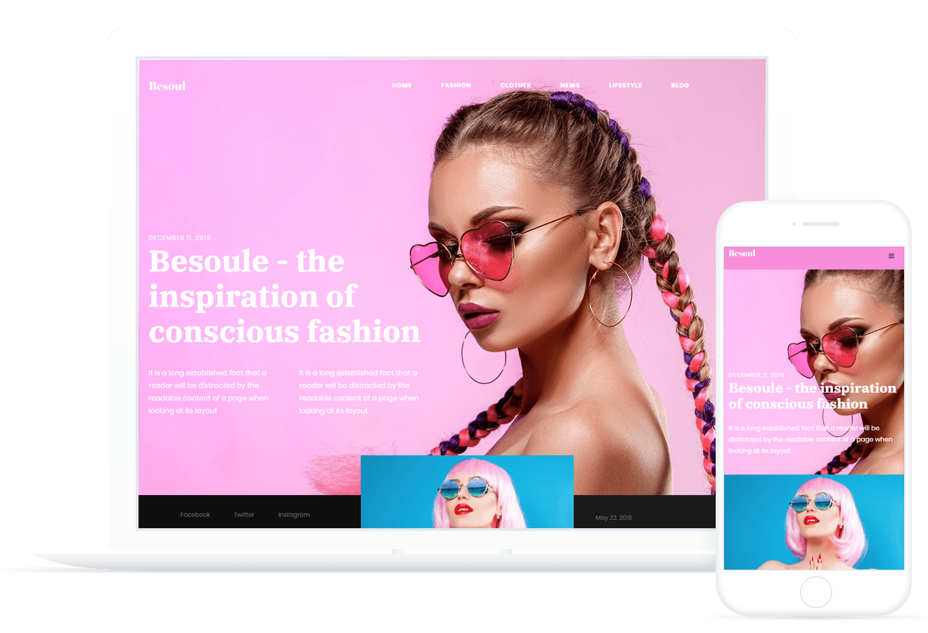 Besoul — Fashion Blog Template