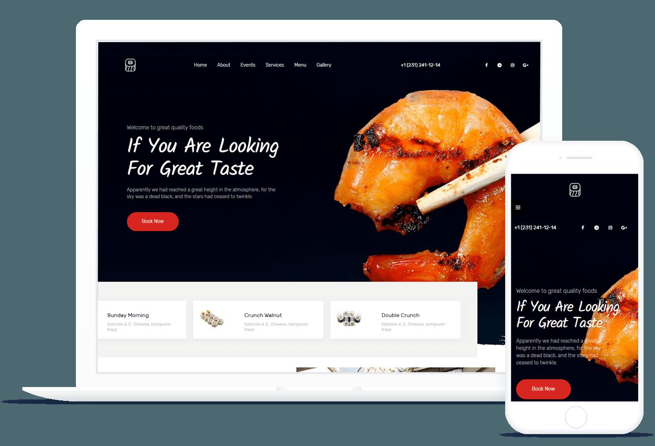 Grande Cuis — Restaurant Template