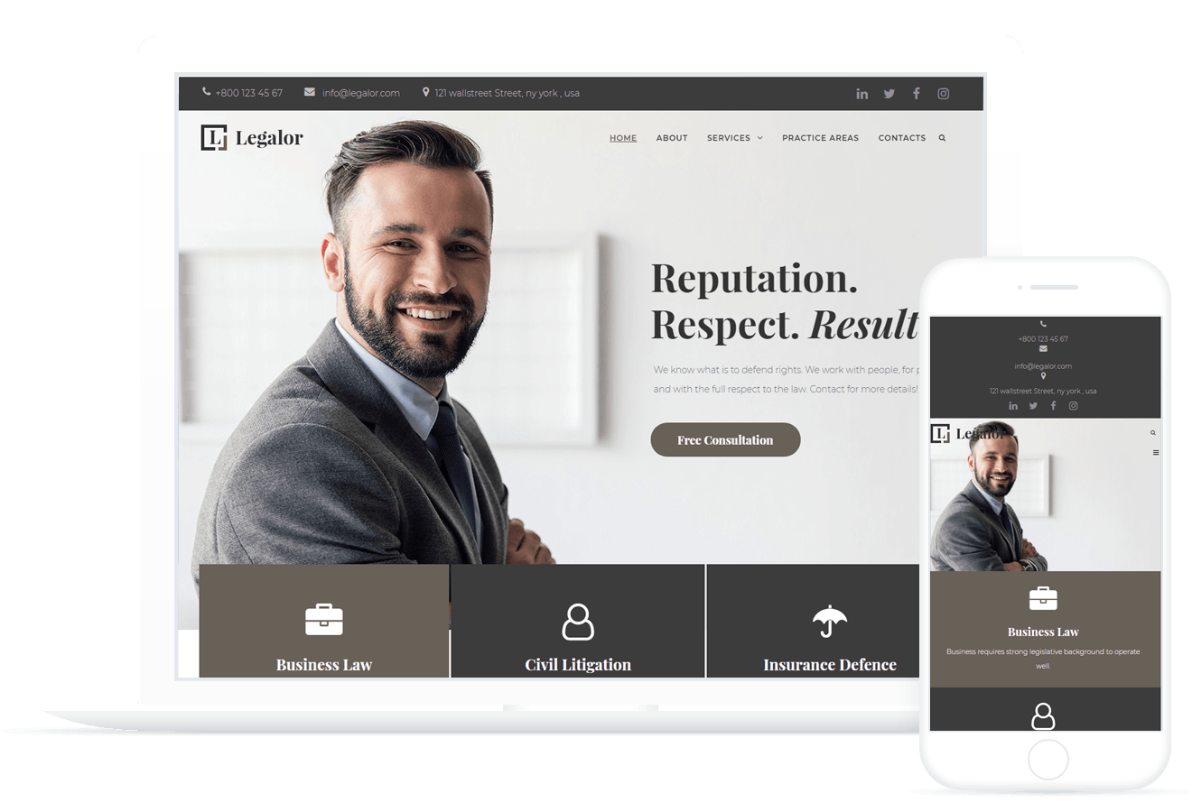Legalor - Lawyer Template