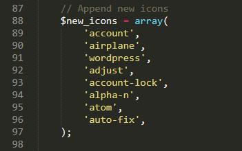 HTML custom icon title