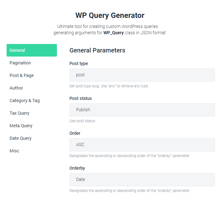 WP Query Generator by CrocoBlock