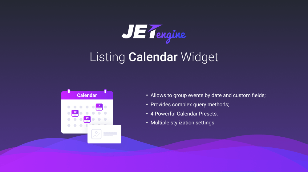 JetEngine v.1.2.0. Meet the Dynamic Listing Calendar Widget