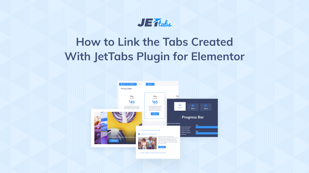 How to link the tabs created with  JetTabs plugin for Elementor