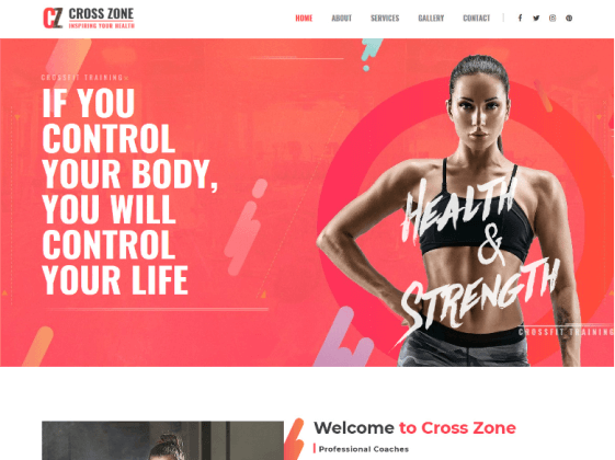 Cross Zone — crossfit studio Elementor template