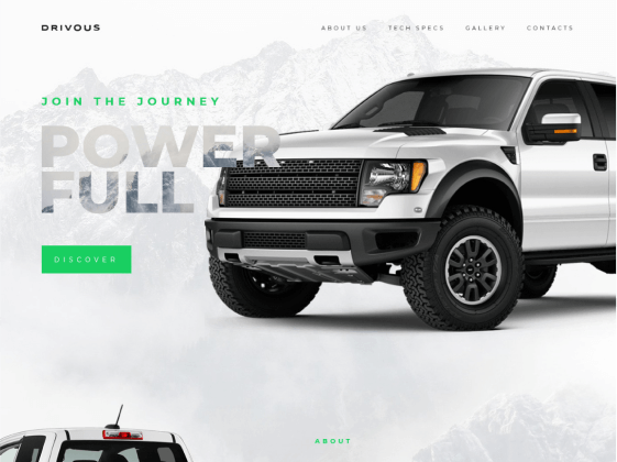 Drivous — luxury cars Elementor template
