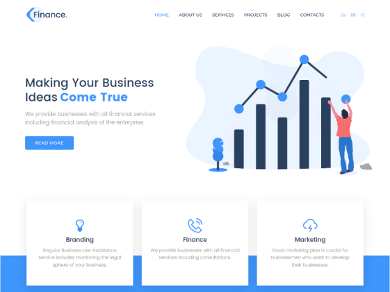 Finance – business Elementor template
