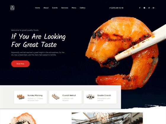 Grande Cuis — restaurant Elementor template