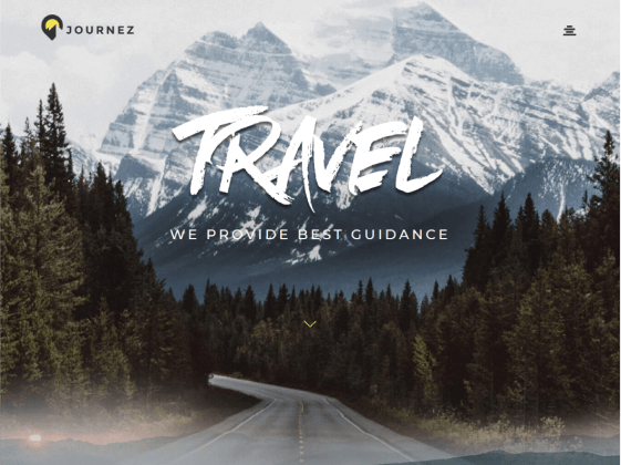 Journez — traveling agency Elementor template