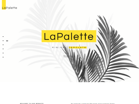 Lapalette — creative minimal Elementor template