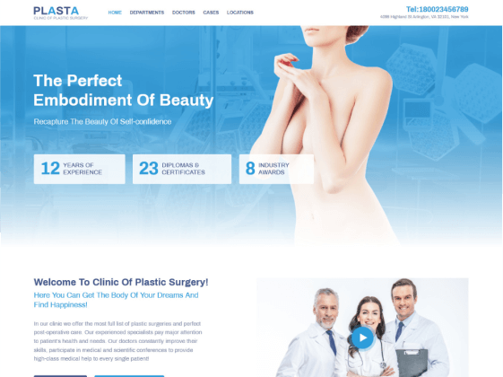 Plasta Medical — surgery medical Elementor template