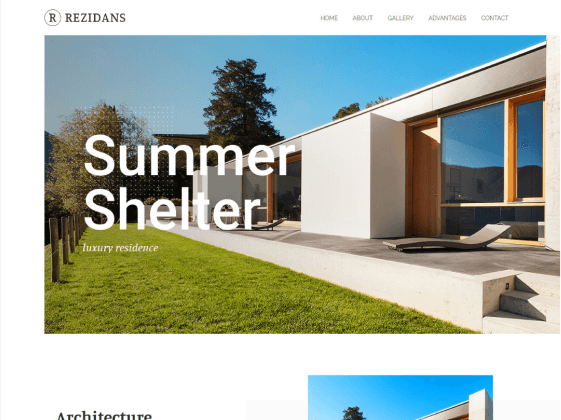 Rezidans — luxury real estate Elementor template