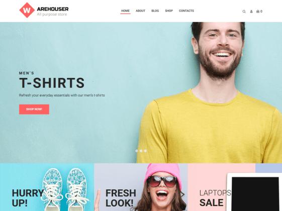 Warehouser — multibrand online store Elementor template