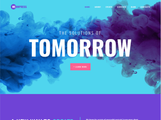 WeImpress — event agency Elementor template