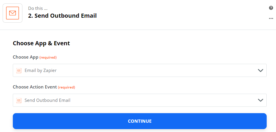 Send Outbound Email action event