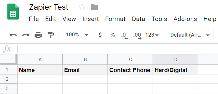 Google sheet settings in the Google account