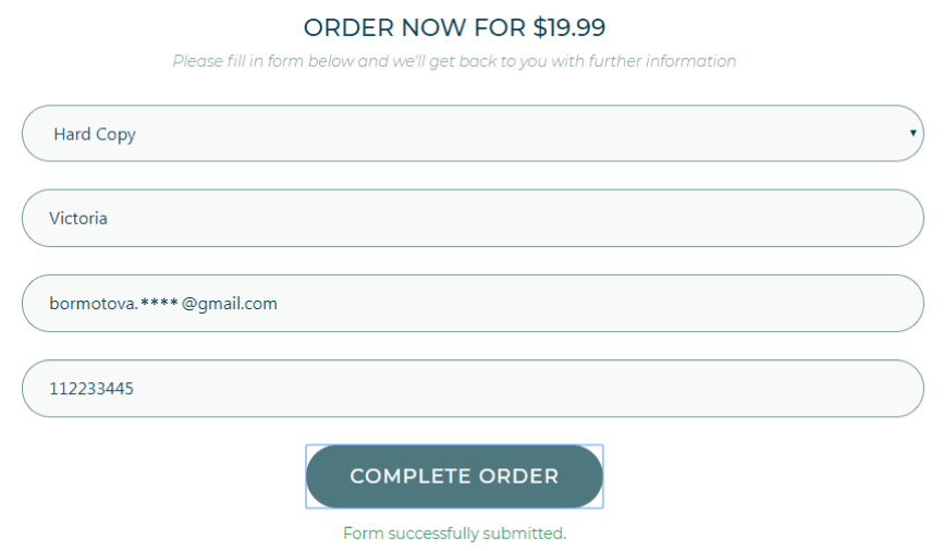 Filling the Order form from the front-end as the users do it