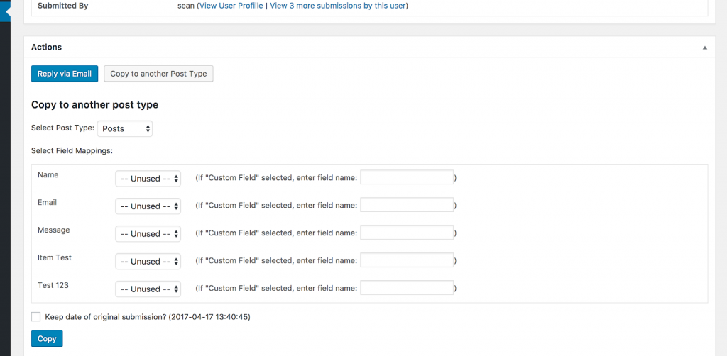 Elementor Contact Form Settings
