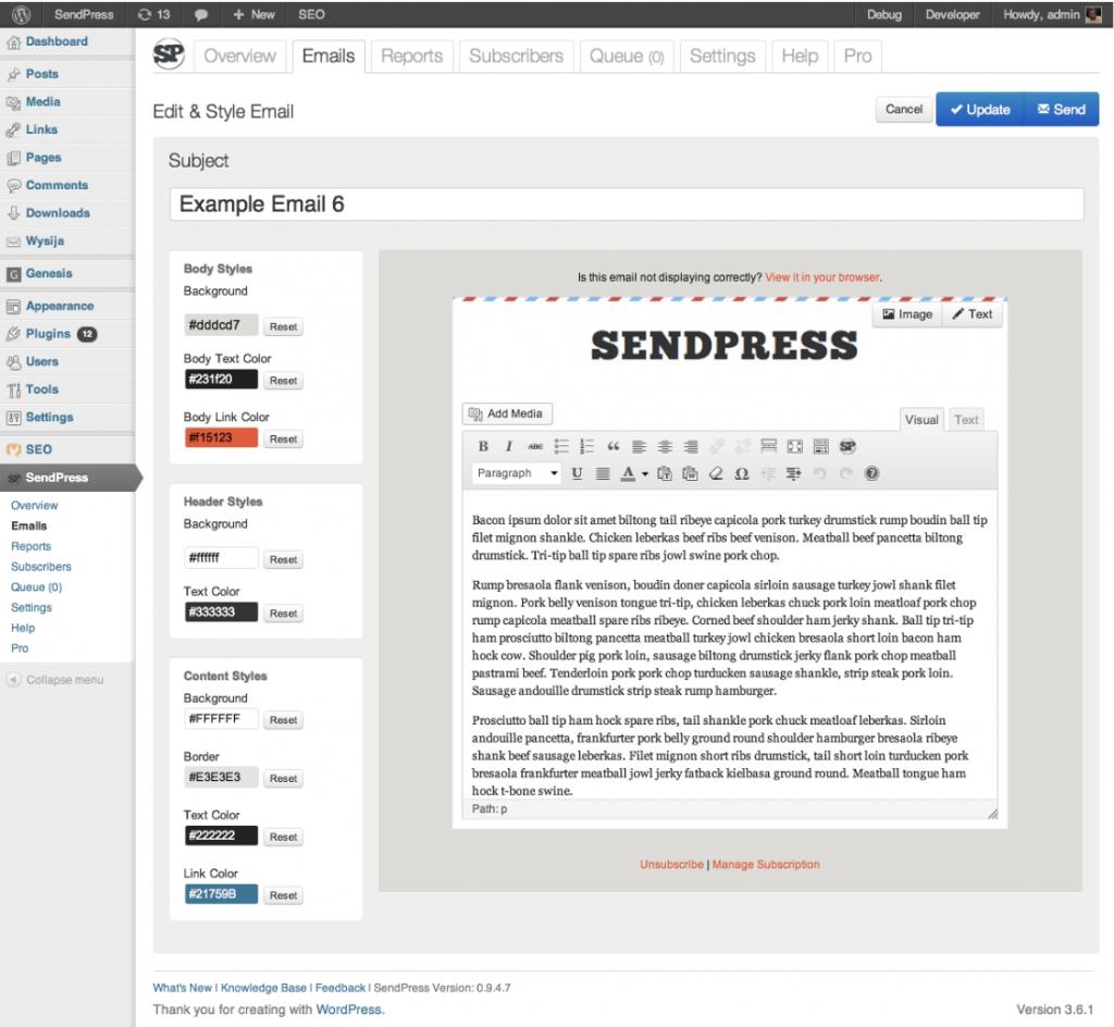 SendPress Example