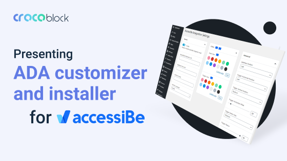 Crocoblock presents ADA customizer and installer for accessiBe