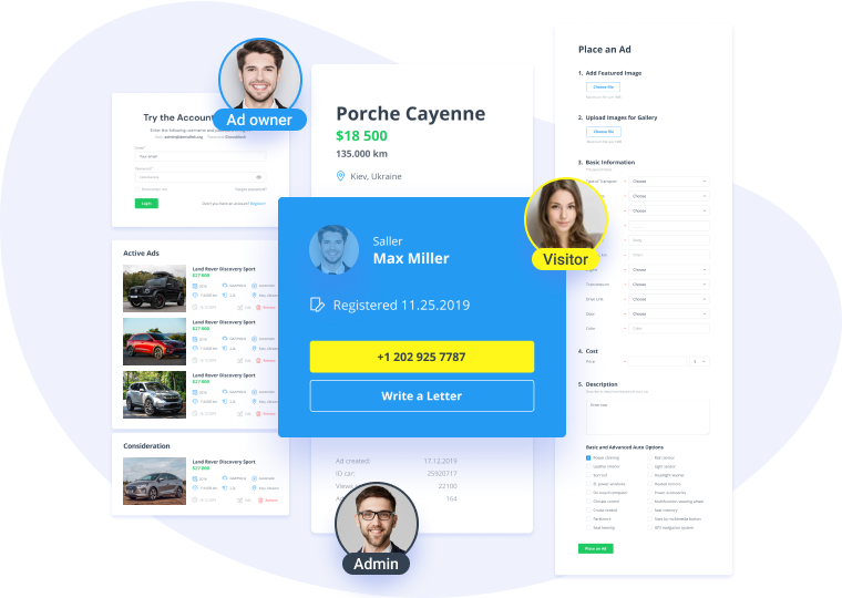 jetengine profile builder functionality. user roles illustrated