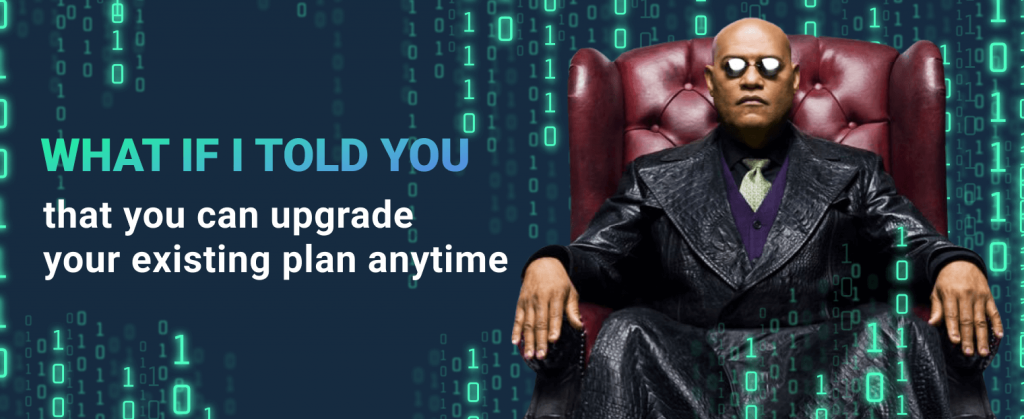 morpheus suggests to upgrade the existing plan