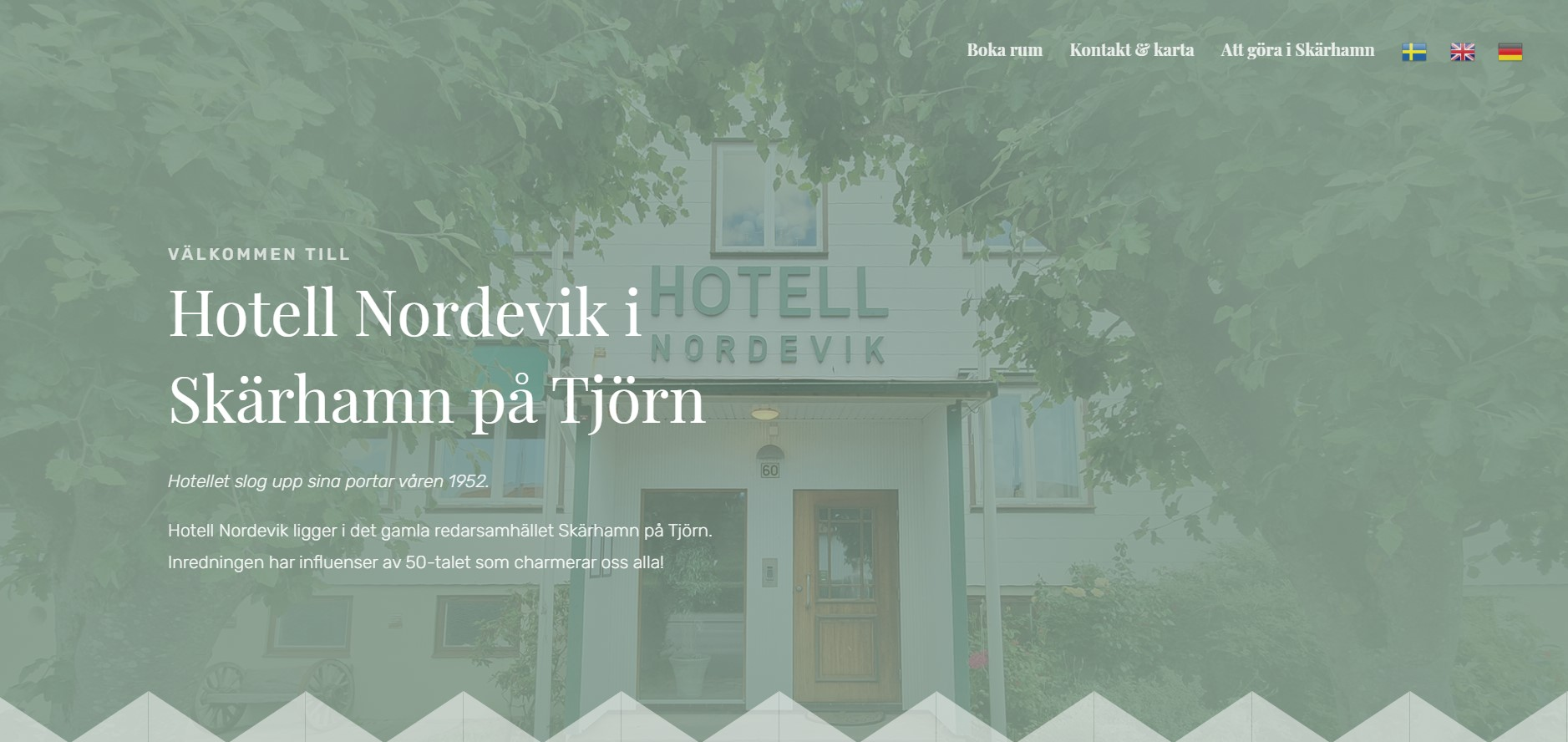 Nordevik hotel website design