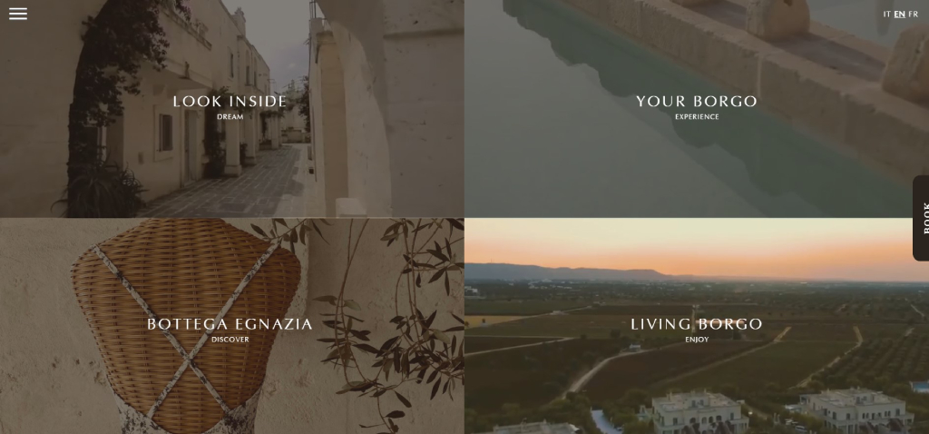 Borgo Egnazia hotel website design
