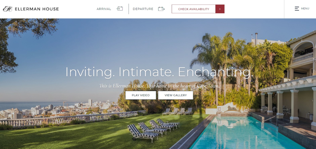 Ellerman House hotel website design
