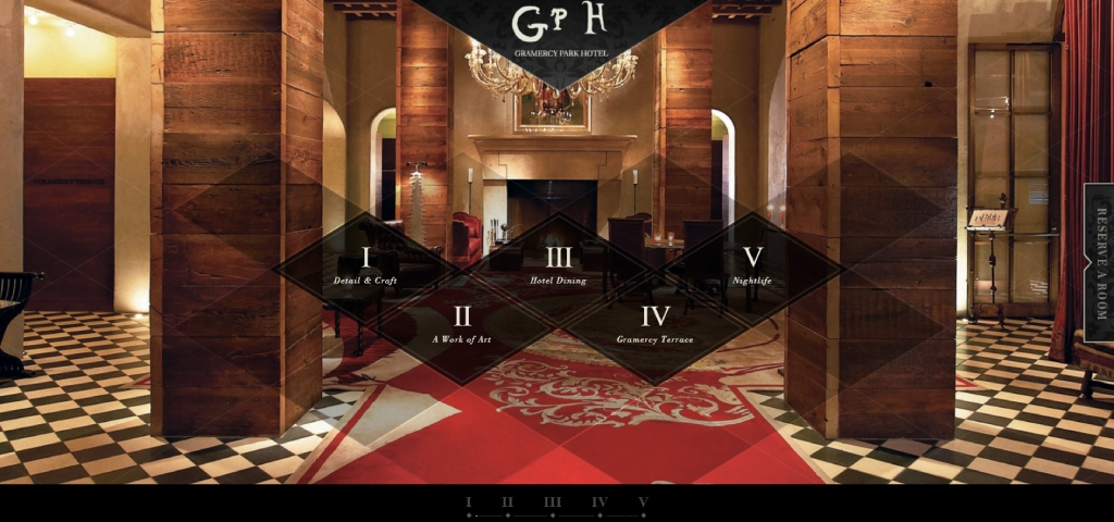 Gramercy Park hotel website design