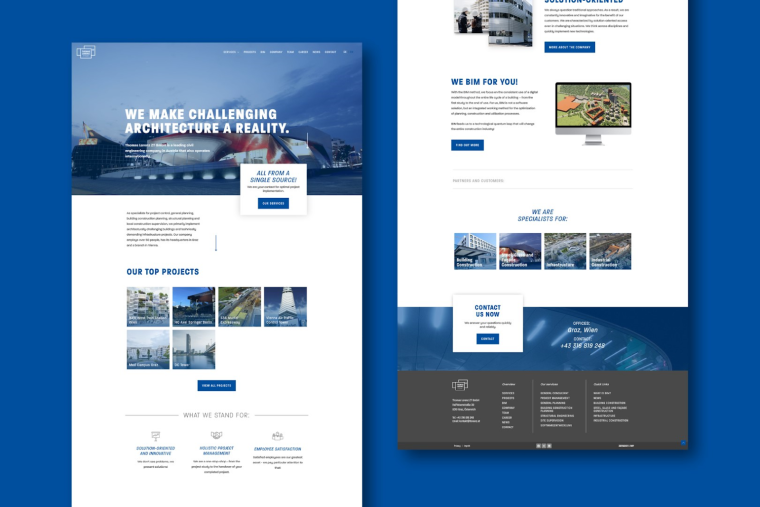 Thomas Lorenz website screen design