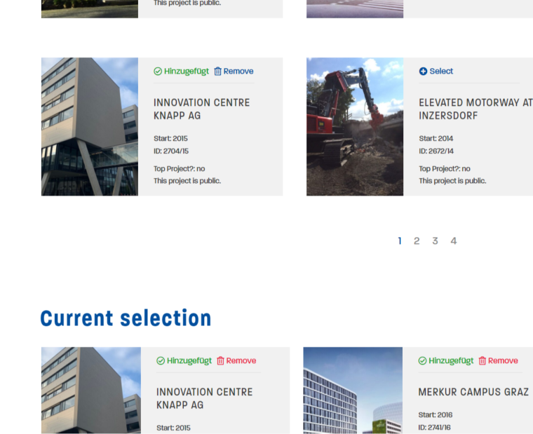 Thomas Lorenz website current project selection