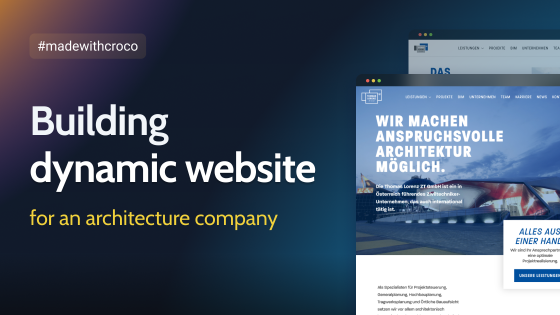 Case study: building dynamic website for architecture company