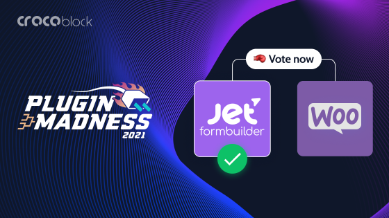 JetFormBuilder nominated at Plugin Madness, Round 4!