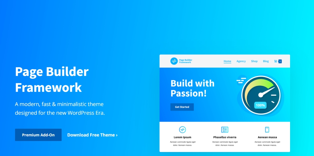Page Builder Framework Theme for WooCommerce