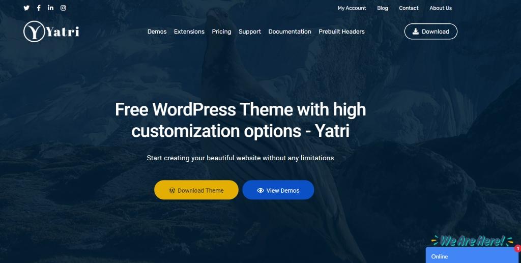 Yatri Theme for Elementor