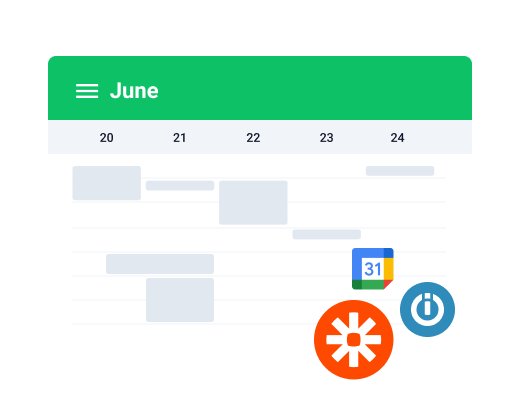 schedule synch features