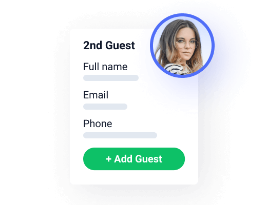 adding guests' personal details