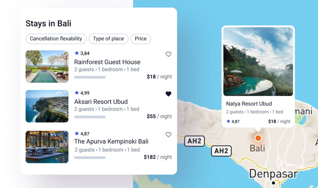 Map listing plugin