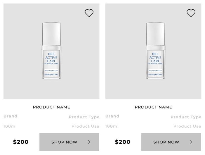 product cards in grid