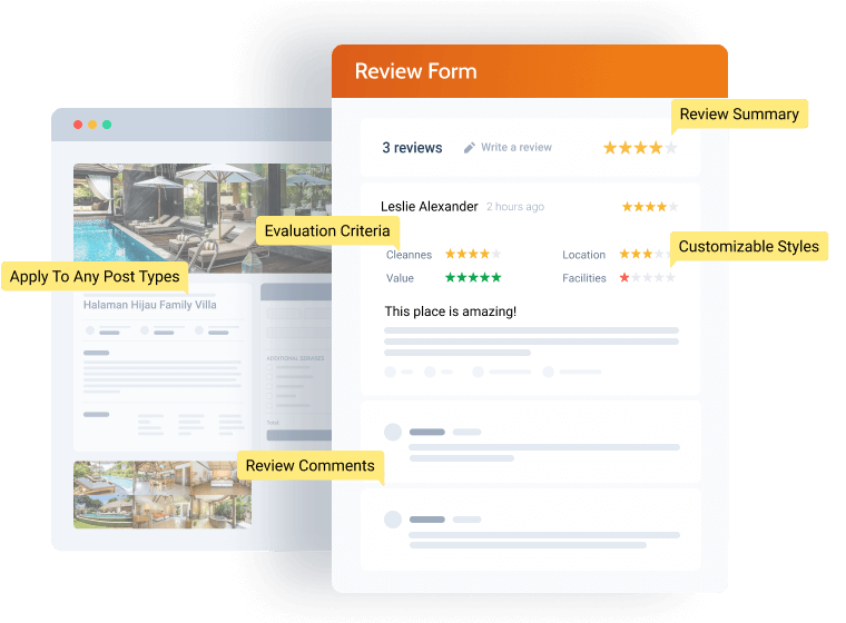 review form components and layout